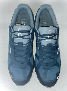 ON Cloudventure Waterproof Trail Running Shoe Size 10 US Color Storm/Cobble NWB