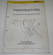 Werkstatthandbuch Opel Vectra Elektrik 4 Gang Automatik Stand Oktober 1988!