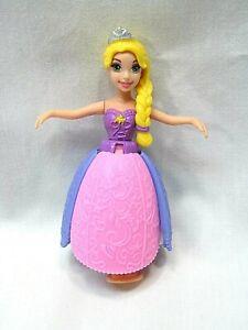 "Mattel Disney Princess Rapunzel Little Kingdom Petal Float Doll 3.5"" Bath Toy"