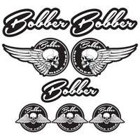 Bobber A4 Sticker Set Motorbike Motorcycle Biker Decals BW