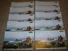 1972 Chevrolet Dealer Sales-Showroom Brochure Poster Lot 10 Impala Bel Air