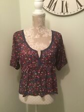 Hollister Ladies Cropped Top Burgundy Colour Size S