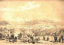 Grande Lithographie Algérie : CAMP DE MEDJEZ HAMMAR (1836) - 40 x 55 cm.