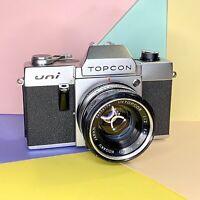Topcon UNI 35mm Film Camera & 53mm F2 Lens Meter Working Lomo' Retro