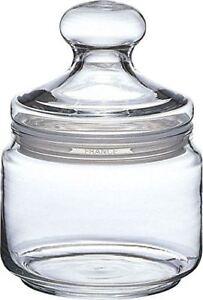 Storage Jar 500ml Sweet Biscuits Cookie Biscotti Sweetie Kitchen Glass Lid Candy