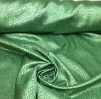LUXURIOUS GREEN JACQUARD CURTAIN UPHOLSTERY FABRIC 6 METRES.