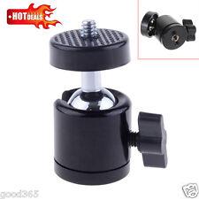 Cámara SLR 1/4 Tornillo Trípode Mini Cabezal de bola para D Videocámara Luz Soporte Giratorio