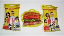 BOB'S BURGERS DANGLER & COLLECTOR CLIPS LOT OF 3 BLIND BAGS PACK RANDOM NEW
