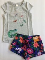 NWT Gymboree Girl Jungle Brights Sky Blu Floral Tiger Dress Girl  4T 5T
