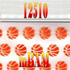 100 PACK 12510 BASKETBALLS SLAM DUNK APPLE ZIPLOCK Baggies 1.25x1.0""