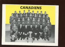 1965/1966 Topps Hockey Card #126 Montreal Canadiens Tough Single Print EX+