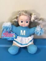 """VINTAGE Lil MUNCHKIN CHEERS Blue DOLL BY LOVEE DOLL COMPANY TAG  9"""" RARE! VIDEO"""