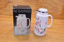 MIKASA SILK FLOWER THERMAL CARAFE THERMOS 1 LITER W/ BOX