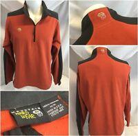 Mountain Hard Wear Pullover M Red Fleece 1/4 Zip Made In USA EUC YGI RE1090