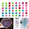 1 Sheet Decal Scrapbooking Self Adhesive Rhinestone Bling DIY Sticker Crystal SE