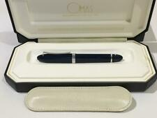 Omas 360 blue Lacquer Fountain Pen + Leather case