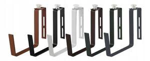 Set 2x Trough Pot Hanging Adjustable Hooks Rail Balcony Planter Holder Brackets