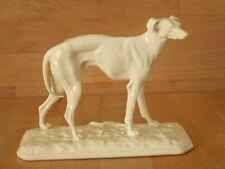 NYMPHENBURG BLANC DE CHINE FIGURE OF A GREYHOUND DOG BY P J MENE