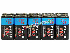 10x Durable 9V 9 volts 600mAh Black Power Ni-MH rechargeable PPS