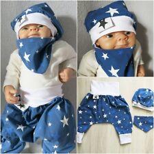 Pumphose Haremshose Mitwachshose Baby 56 62 68 74 Hose Stolz-Kids Blaue Stars °