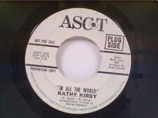 """KATHY KIRBY """"IN ALL THE WORLD / TIME"""" 45  PROMO"""
