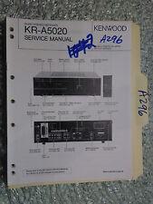 Kenwood kr-a5020 service manual original repair book stereo receiver tuner radio
