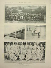 1899 PRINT TRANSVAAL WAR IMPERIAL LIGHT HORSE 10th MOUNTAIN BATTERY 19th HUSSARS