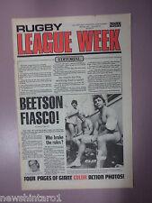 #T107. RUGBY LEAGUE WEEK NEWSPAPER 28/5 1977, PARRA, SOUTHS & ST. GEORGE CENTRE