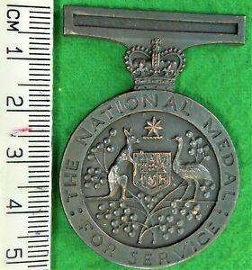 Unfinished blank Australian NATIONAL medal.
