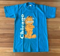 Vintage Deadstock Velva Sheen 70s Garfield Chicago Shirt Teal New Small 1978