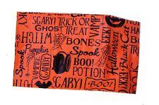 Black Orange Scary Pumpkin Halloween Cat Vinyl Tablecloth Table Cloth 52x 70 NEW