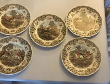 "Five Fox Hunting Plates - ""Herrings Hunt� - By Churchill"