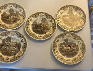 "Five Fox Hunting Plates  - ""Herrings Hunt"" - By Churchill"
