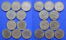 France 10 Centimes 1970, 1971, 1972, 1973, 1974, 1975, 1976, 1977, 1978, 1979