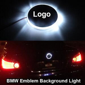 For BMW Background Logo LED Xenon White Light Emblem Badge 3 5 7 Z Series X3 X5