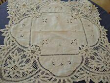 Vintage Battenburg Lace Cloth / Embroidered