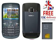 New Condition Nokia Brand C3-00 Blue Unlocked Wifi Qwerty Keypad Mobile Phone