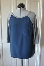 URBAN OUTFITTERS, HERO CHARACTER, SWEATSHIRT STYLE TOP, BLUE AND GRAY - SZ SM