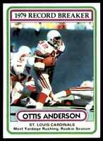 1980 Topps #1 Ottis Anderson ROOKIE 2 CARD LOT NY Giants / Cardinals / U Miami