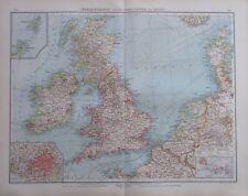 1904 Grossbritannien Irland - 56x43 cm alte Karte Landkarte antique map