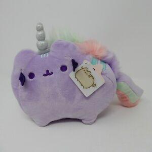 """GUND Pusheen Pusheenicorn Unicorn Cat Sound Plush Stuffed Animal, Purple, 7.5"""""""