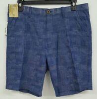 Roundtree & Yorke Caribbean Medium Blue Plaid Men's Shorts NWT $69.50 Choose Sz