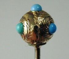 Turchese Palla Design TIE PIN Vittoriano 18 KT GOLD 2.1 G