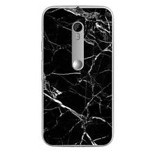 Coque Housse Motorola Moto G3à motif Silicone Gel qualité FR -Marbre noir