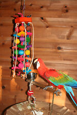 """X-Large Parrot Toy (Balls & Squares)JK112 Macaw/Cockatoo  24""""+ H Chewing - Climb"""