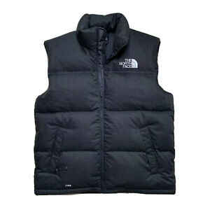 Mint ! Large The North Face Mid Grey 700 Fill Down Puffer Vest Full Zip