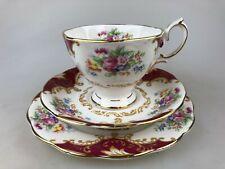 VINTAGE ROYAL ALBERT - CANTERBURY TRIO - BONE CHINA MADE IN ENGLAND - HIGH TEA