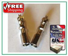 "(2) Double Seal Cap, 1-1/4"" long, chrome extension for truck valve SME27B"