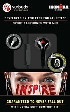 Authentic Yurbuds IRONMAN Inspire Talk Black Sport Earphones Sweat Proof Earbuds