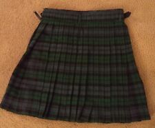 Vintage Plaid  Edinburgh Kilt Skirt Pleated Celtic Wrap Irish Size 36 Tartan